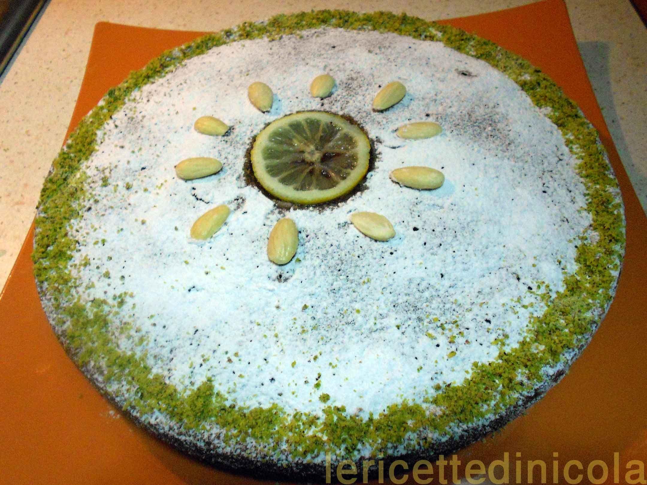 Torta caprese limone e cioccolato bianco